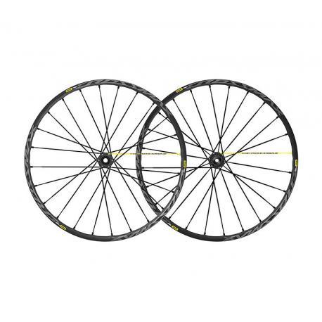 Roues à pneu 27.5p MAVIC vtt Crossmax Pro UST 27.5 ID360 XD noire décor gris