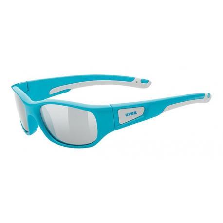 Lunettes UVEX enfant Sportstyle 506 bleu turquoise décor blanc