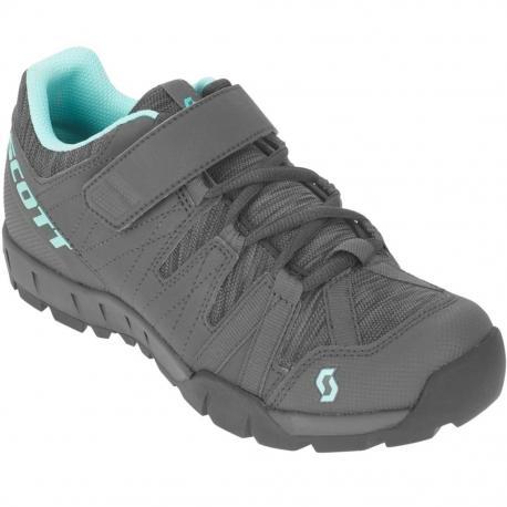 Chaussures SCOTT vtt Sport Trail Lady gris décor turquoise