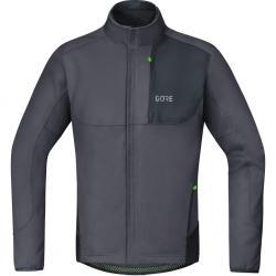 Veste thermique GORE hiver C5 Trail Windstopper Thermo gris décor noir