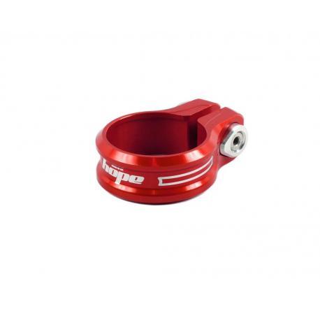 Collier de selle HOPE alu cnc à vis rouge