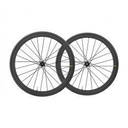 Roues à pneu 700 MAVIC route Ksyrium Pro Carbon UST Disc CL ID360 SH 28 noire carbon